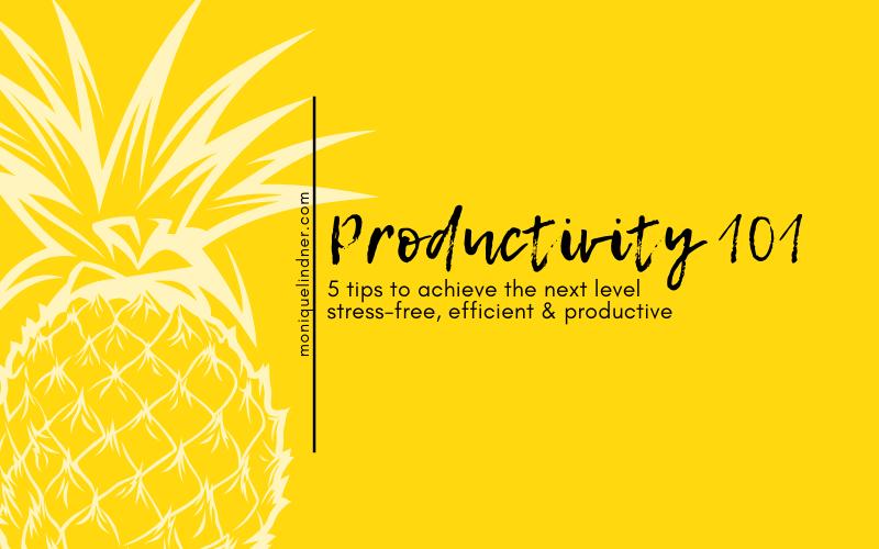 Productivity 101